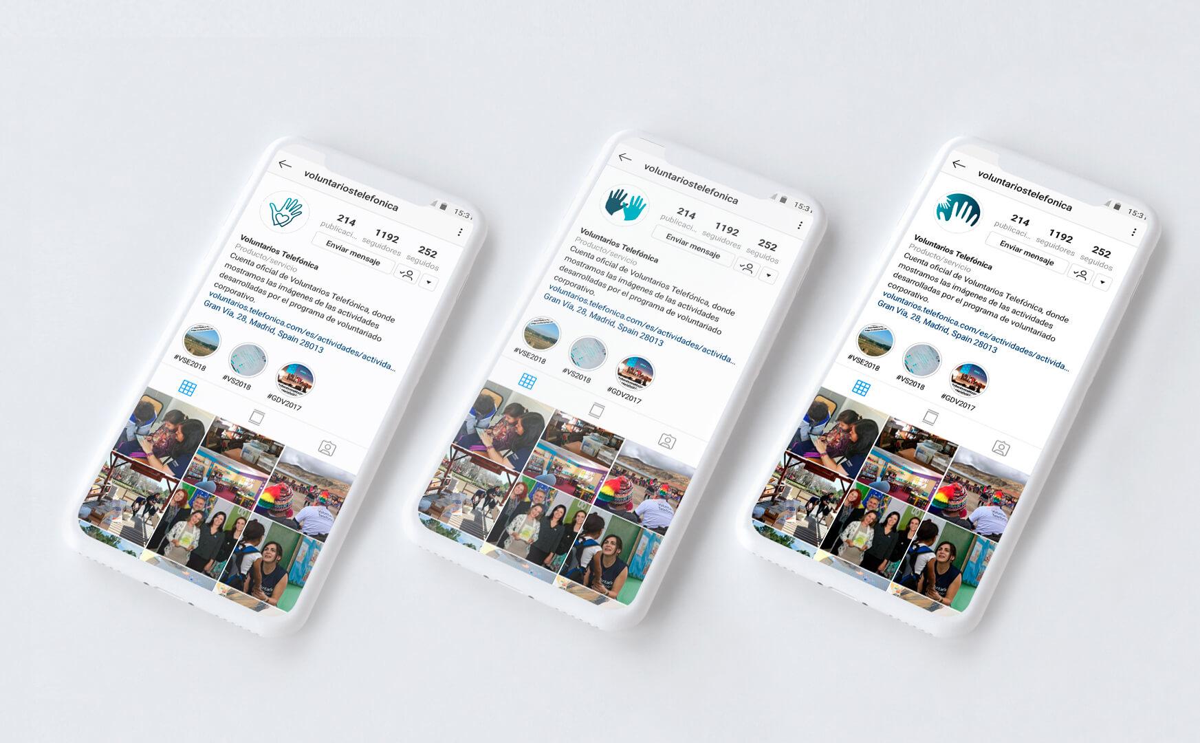demo instagram voluntarios telefonica
