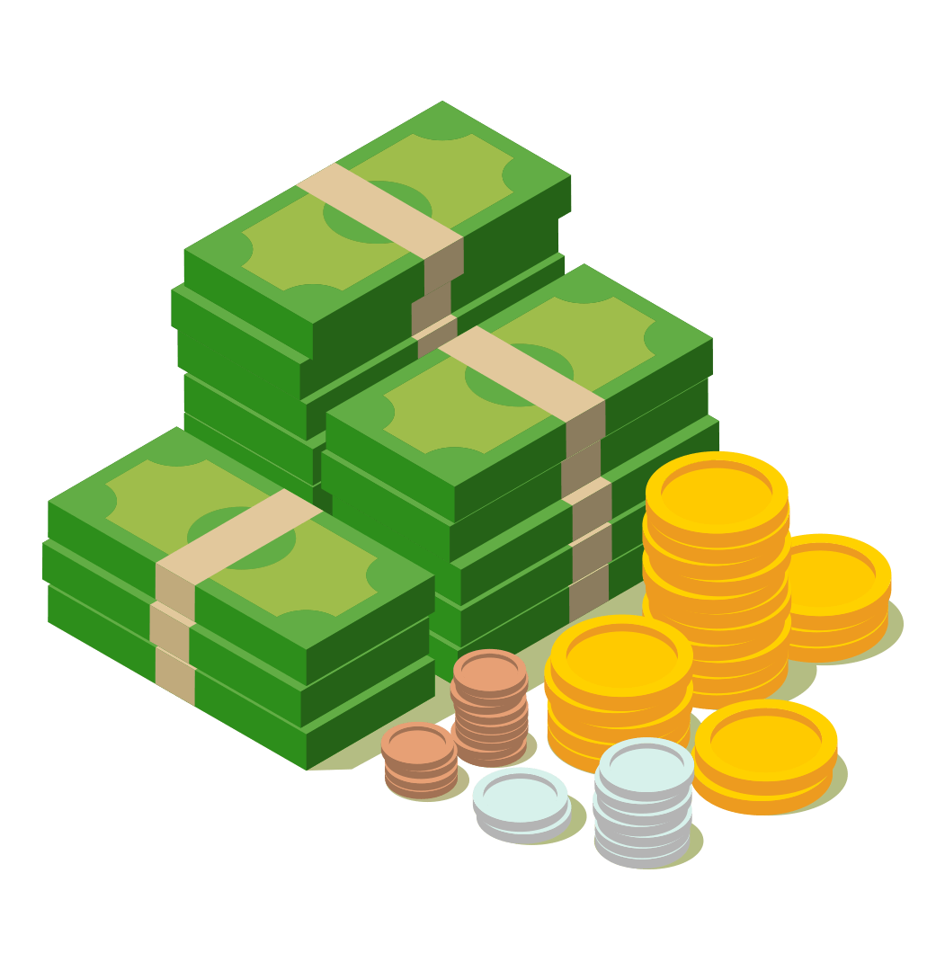 money and coins illustration