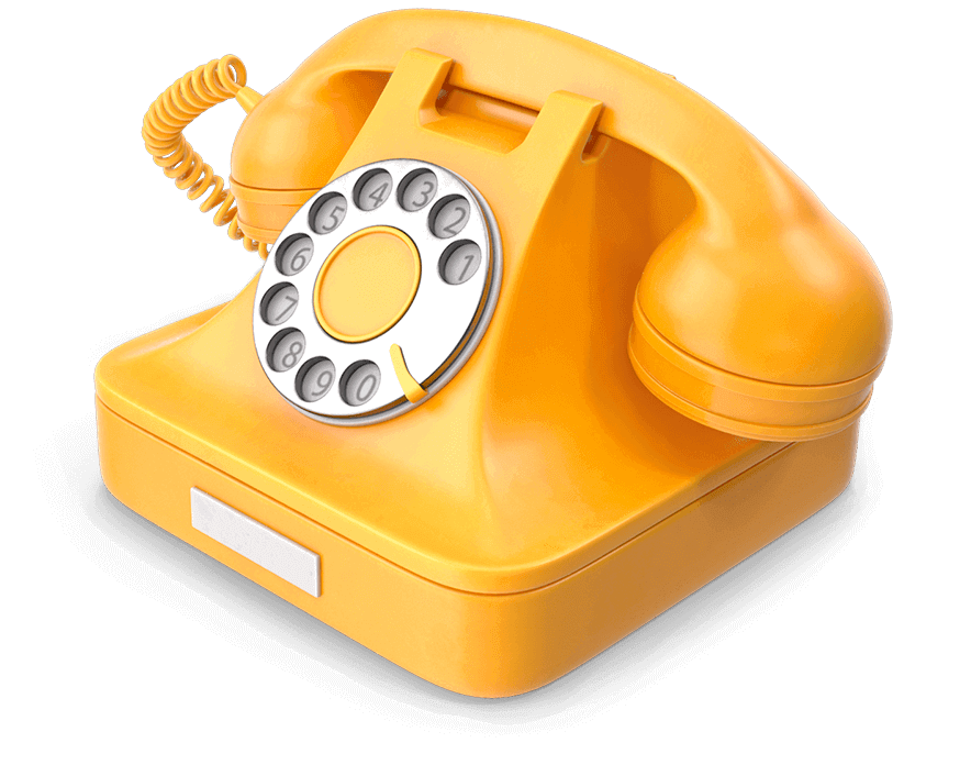 Vintage Yellow Phone