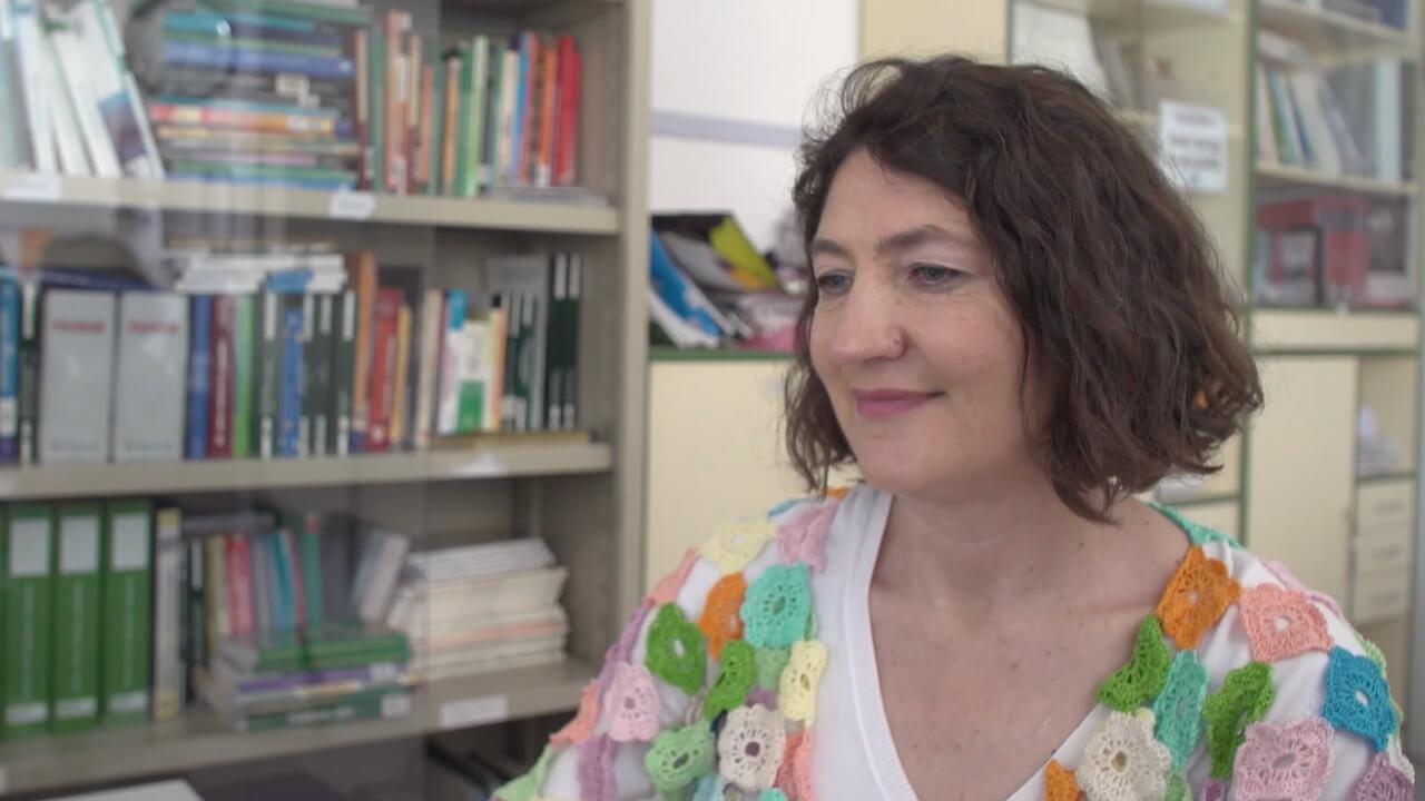 fotograma video entrevista a Rosa Ana