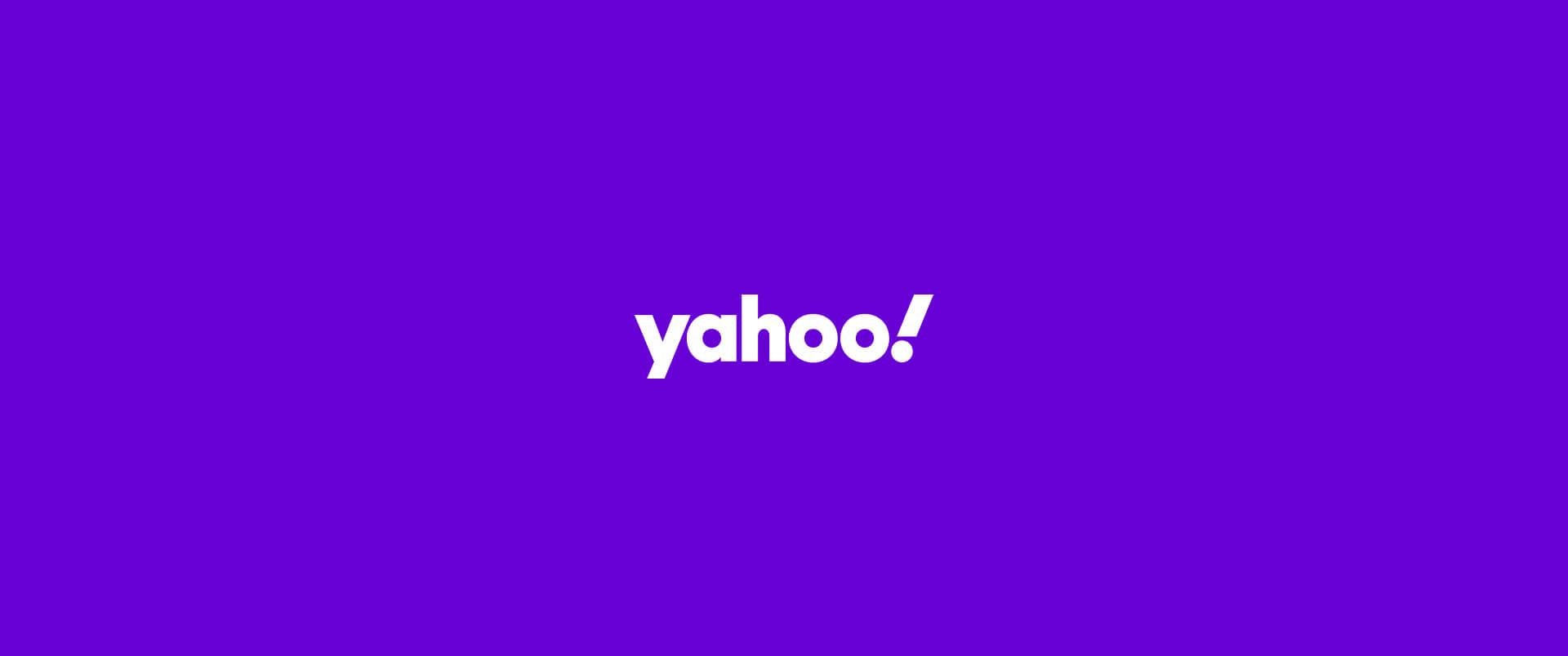 banner con el logo de yahoo
